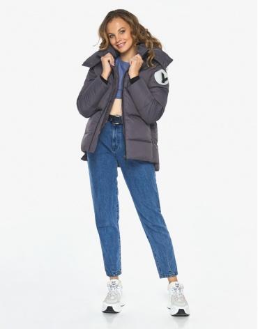 Куртка пуховик Youth графитовый практичный женский модель 23140 фото 1