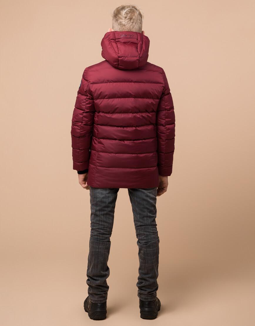 Куртка бордовая детская модная модель 65028 оптом фото 4