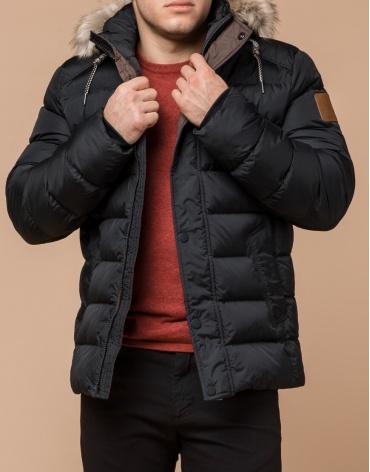 Стильная мужская графитовая куртка модель 16115