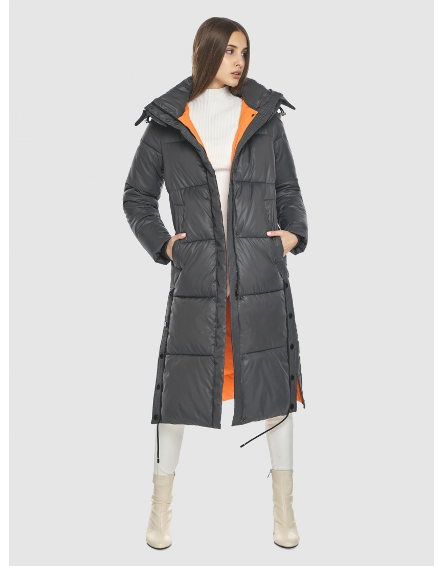 Стильная подростковая зимняя куртка Vivacana серая 7654/21 фото 2