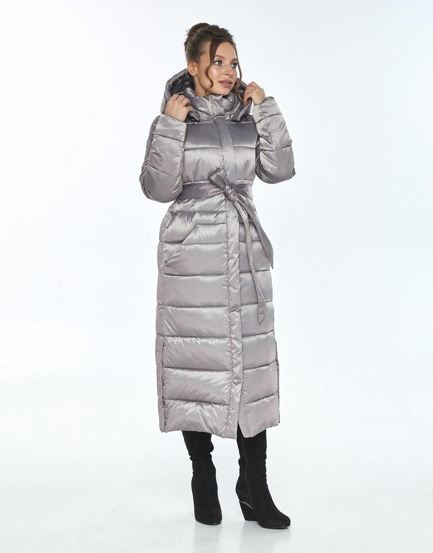 Куртка с ветрозащитной планкой женская Ajento кварцевая зимняя 21207 фото 2