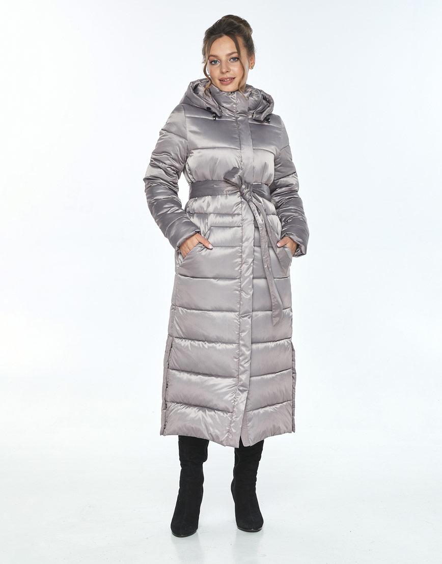 Куртка с ветрозащитной планкой женская Ajento кварцевая зимняя 21207 фото 1