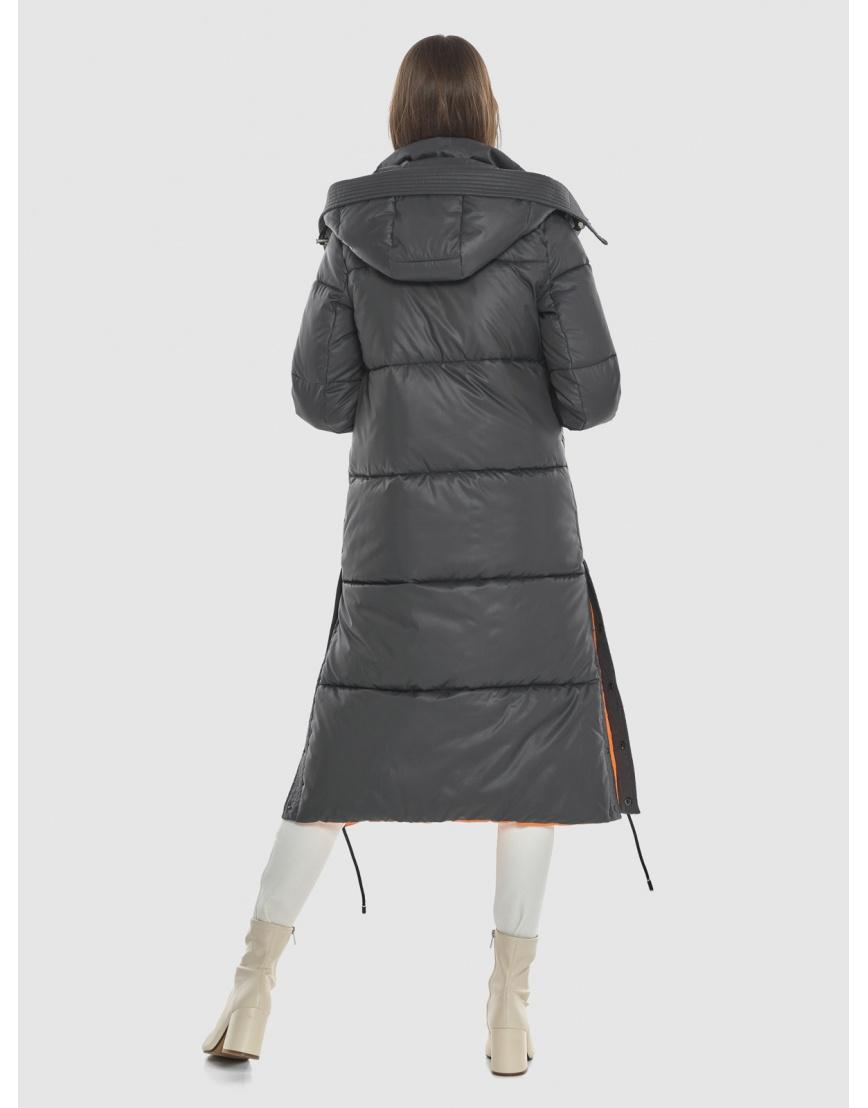 Стильная подростковая зимняя куртка Vivacana серая 7654/21 фото 4