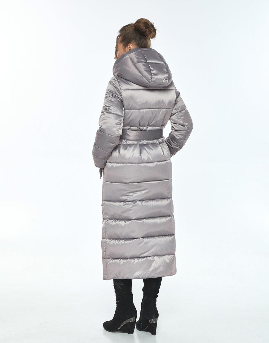Куртка с ветрозащитной планкой женская Ajento кварцевая зимняя 21207 фото 3