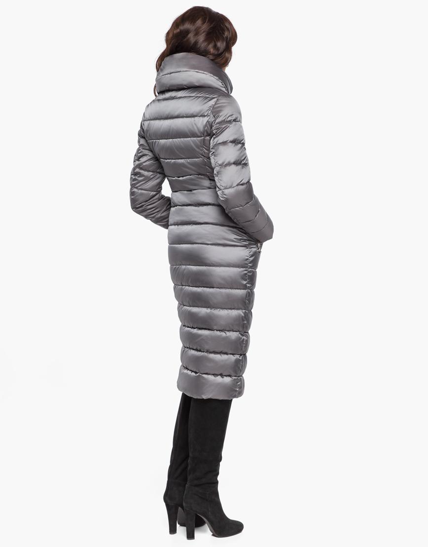 Жемчужно-серый воздуховик женский Braggart модный зимний модель 31074