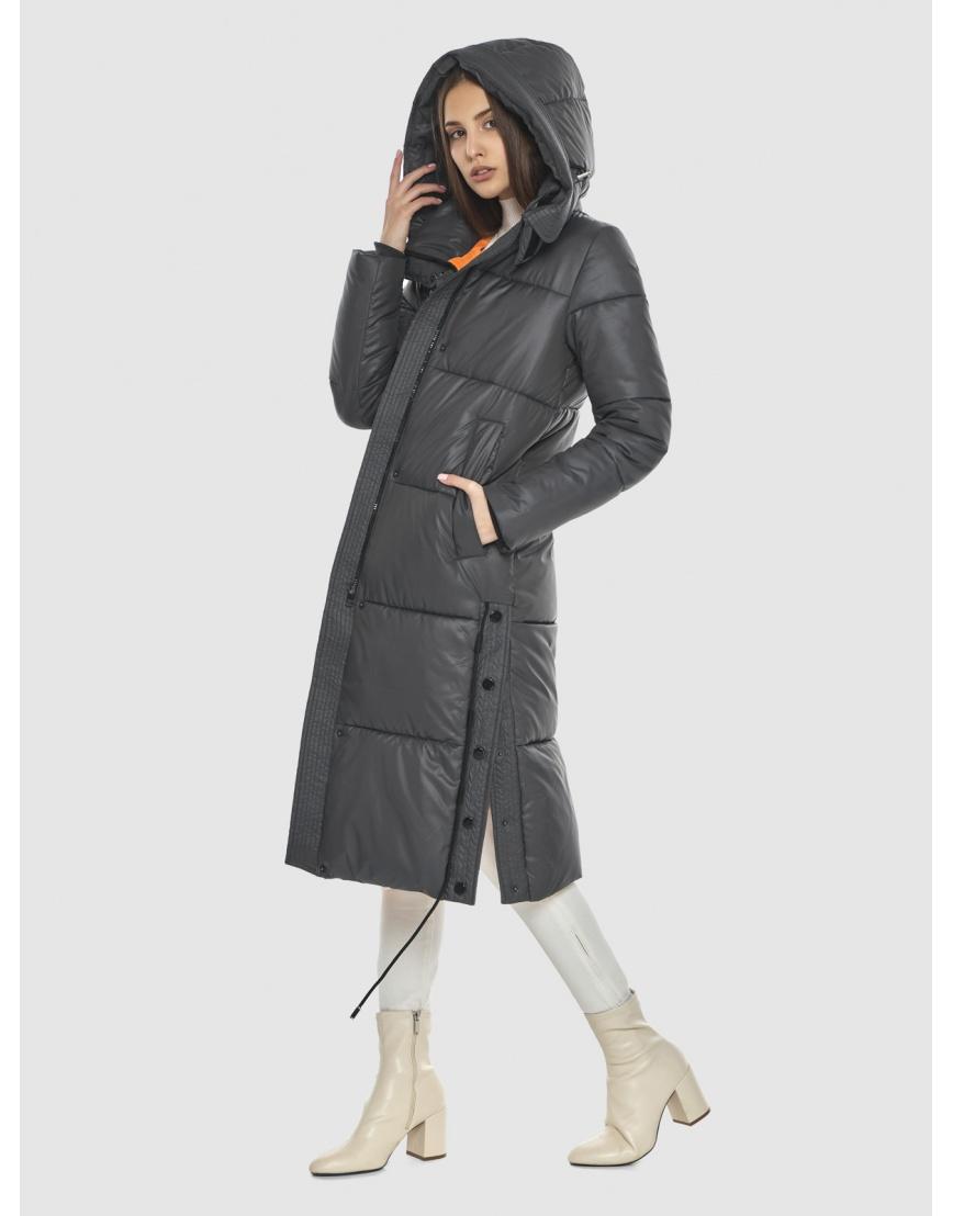 Стильная подростковая зимняя куртка Vivacana серая 7654/21 фото 5