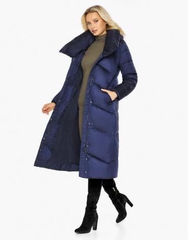 Воздуховик Braggart для женщин на зиму цвет синий бархат модель 47260 оптом