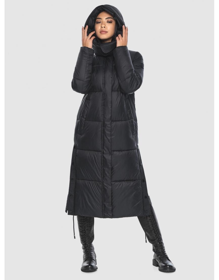 Женская длинная стильная курточка Moc чёрная M6874 фото 5