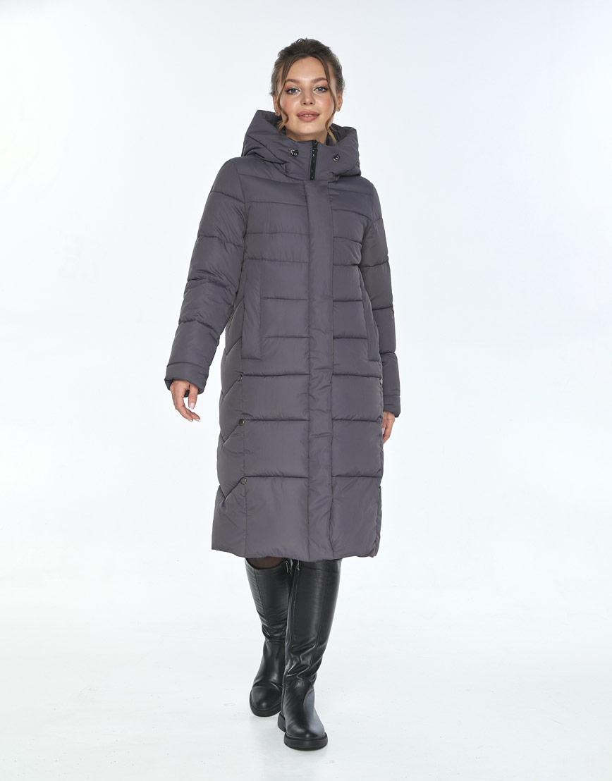 Стильная зимняя куртка женская Ajento серая 22975 фото 1