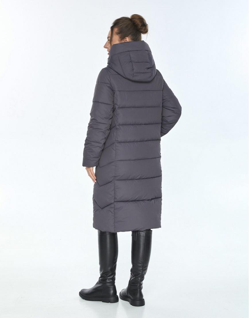 Стильная зимняя куртка женская Ajento серая 22975 фото 3