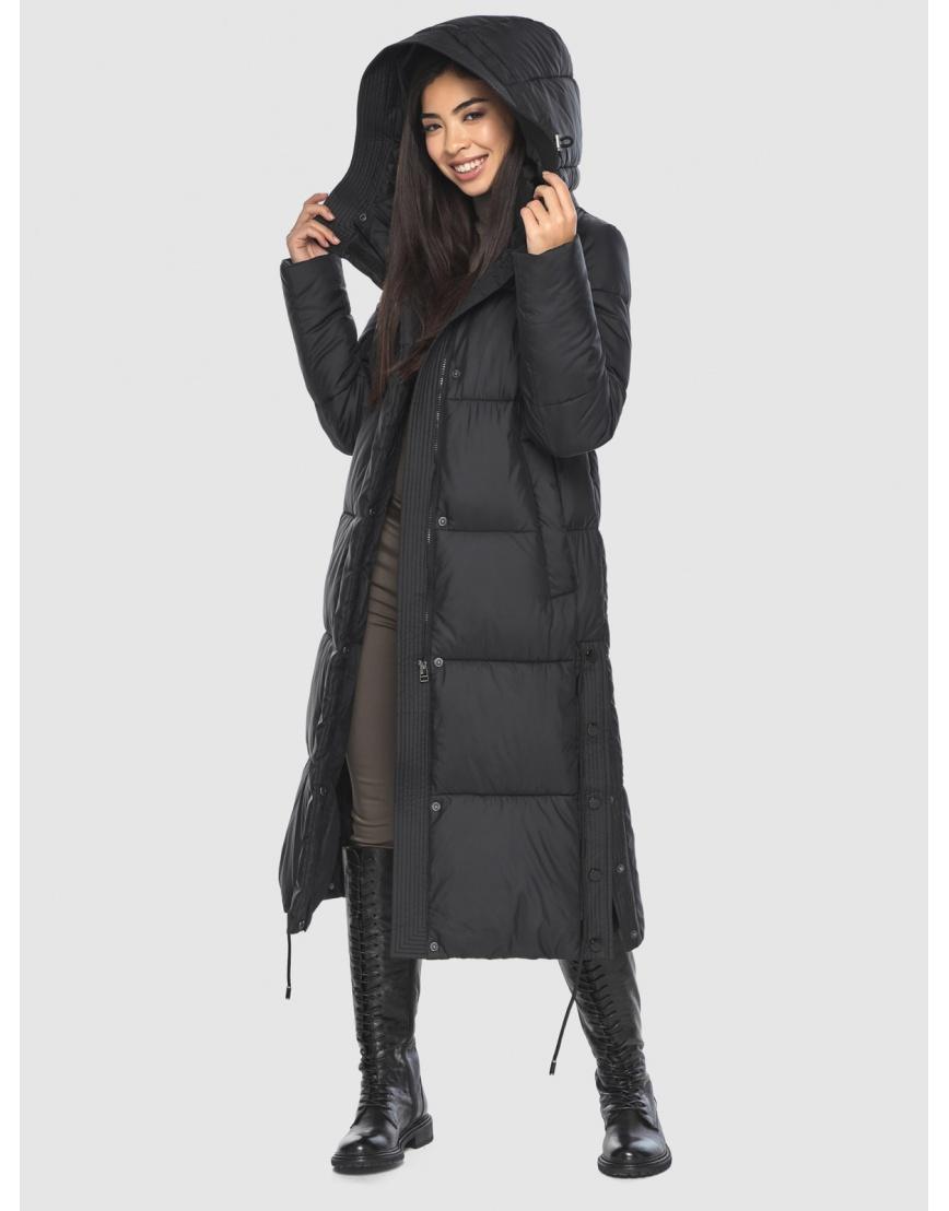 Женская длинная стильная курточка Moc чёрная M6874 фото 3