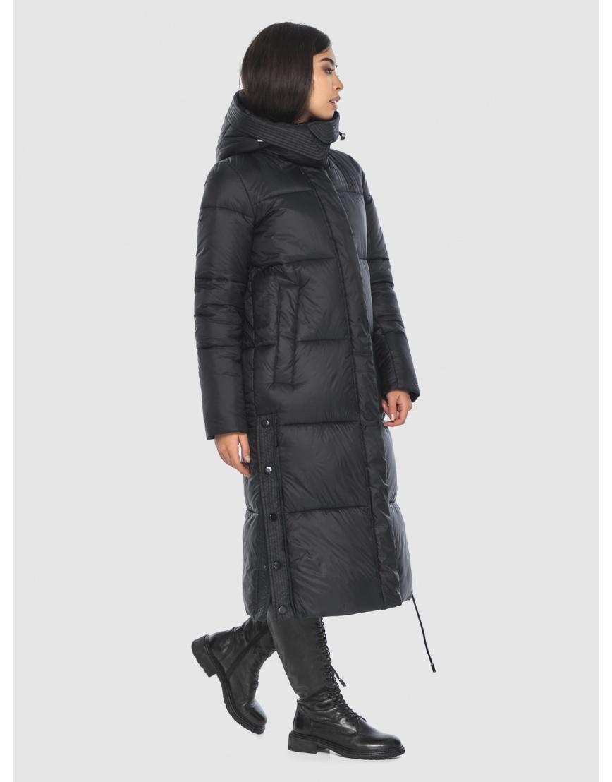 Женская длинная стильная курточка Moc чёрная M6874 фото 2