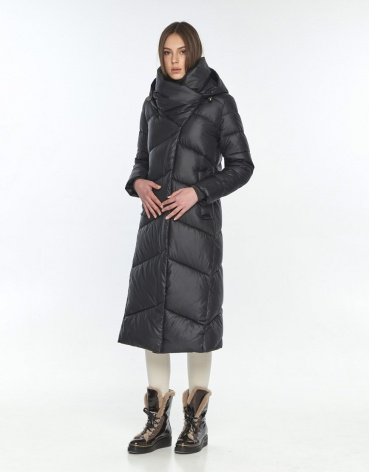 Длинная куртка женская Wild Club чёрная 514-35 фото 1