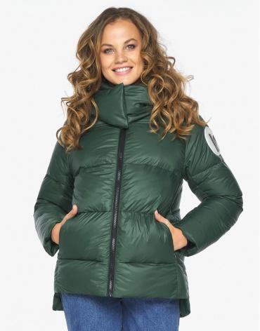 Пуховик куртка Youth нефритовая стильная женская модель 23140 фото 1
