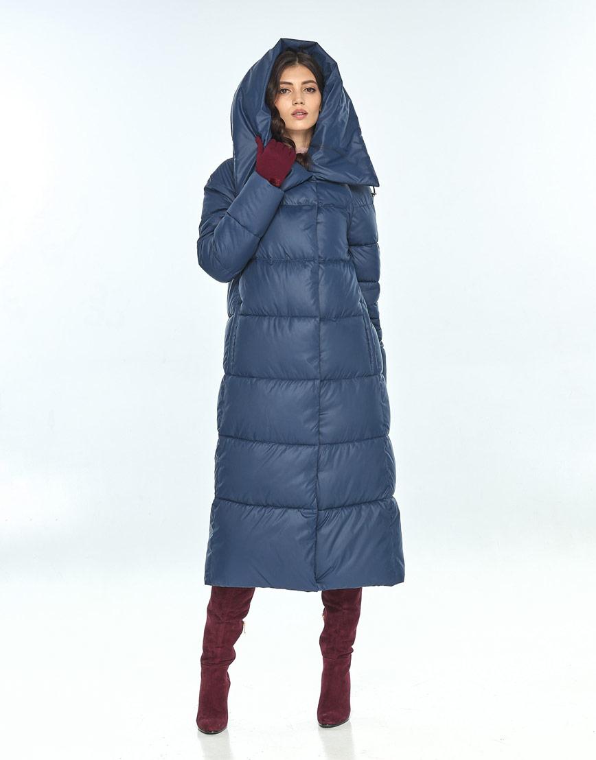 Куртка синего цвета женская Vivacana 9150/21 фото 2