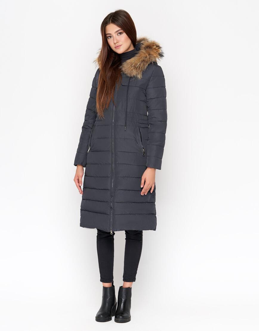 Женская куртка серая дизайнерская модель 9615 фото 1