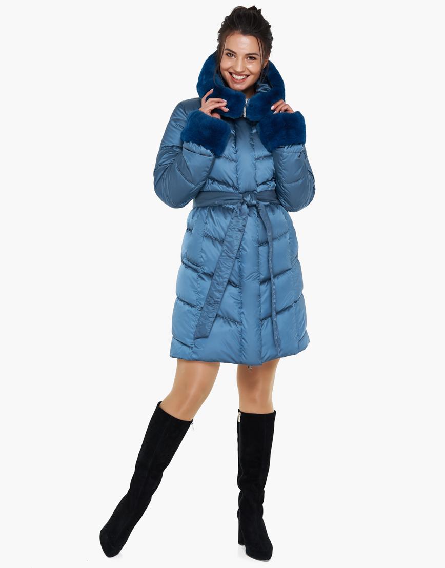 Теплый аквамариновый воздуховик женский зимний Braggart модель 31068 оптом