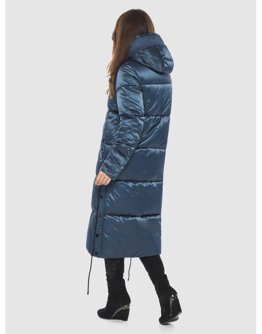 Модная зимняя куртка подростковая синяя женская Ajento 23160 фото 4