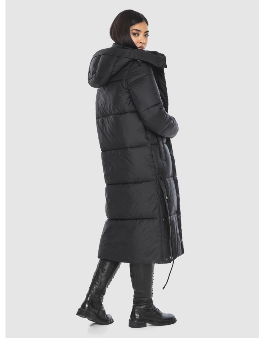 Женская длинная стильная курточка Moc чёрная M6874 фото 4
