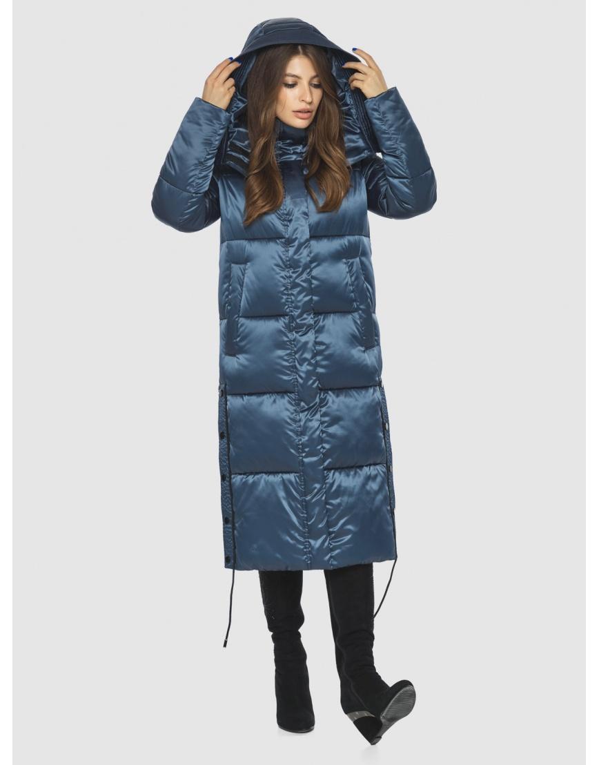 Модная зимняя куртка подростковая синяя женская Ajento 23160 фото 5