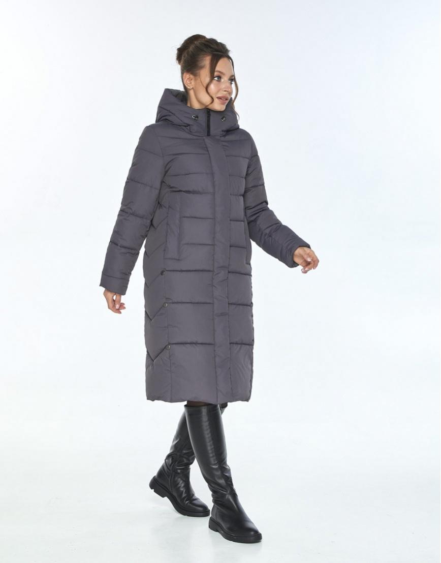 Стильная зимняя куртка женская Ajento серая 22975 фото 2