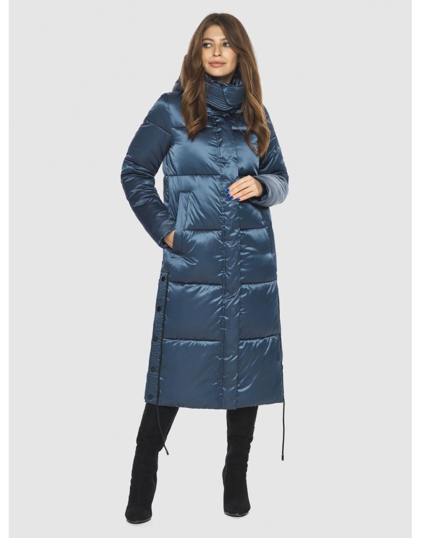 Модная зимняя куртка подростковая синяя женская Ajento 23160 фото 1