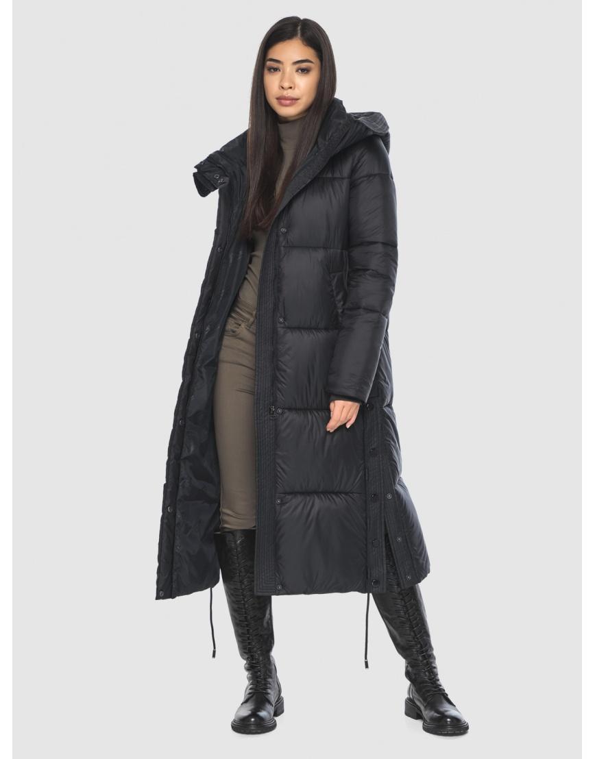 Женская длинная стильная курточка Moc чёрная M6874 фото 6