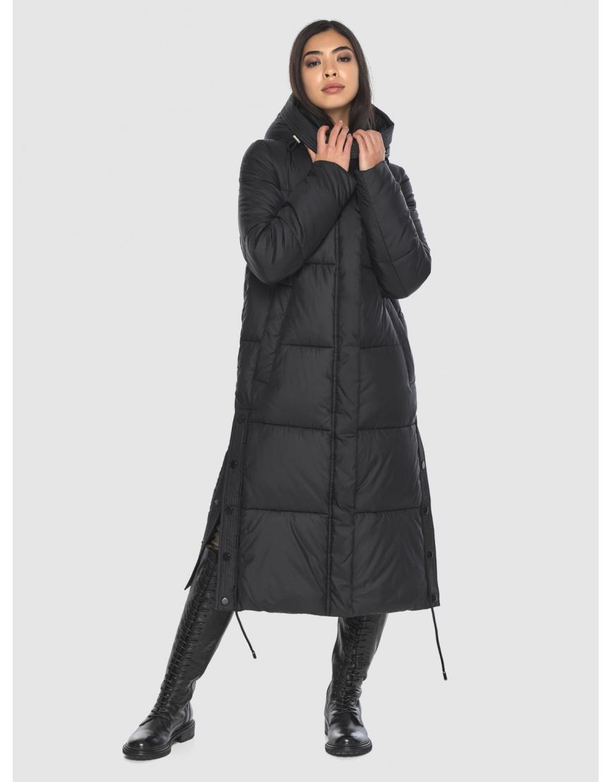Женская длинная стильная курточка Moc чёрная M6874 фото 1