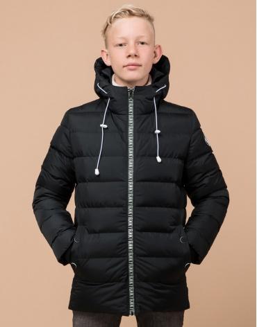 Детская графитовая куртка брендовая модель 65028 оптом