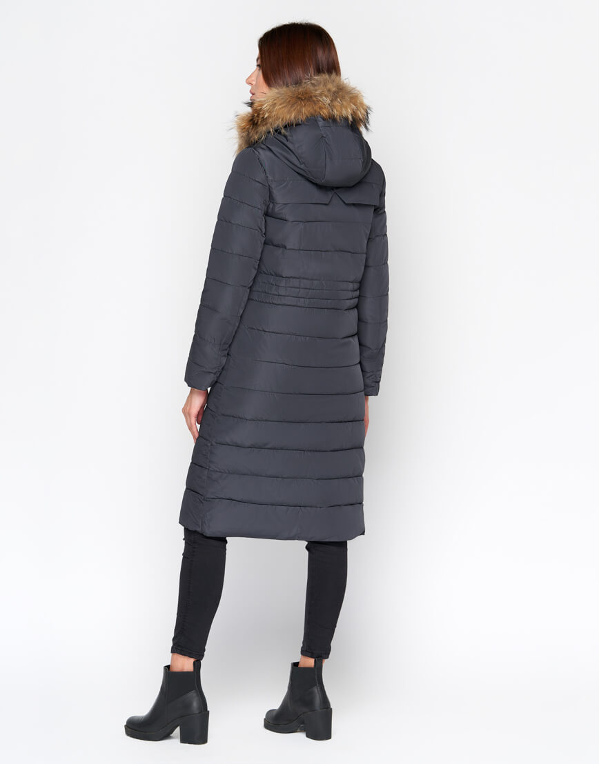 Женская куртка серая дизайнерская модель 9615 фото 3