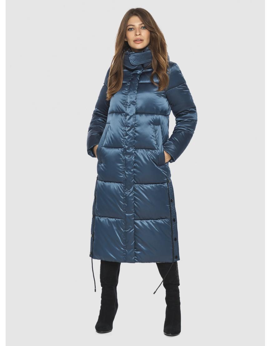 Модная зимняя куртка подростковая синяя женская Ajento 23160 фото 3