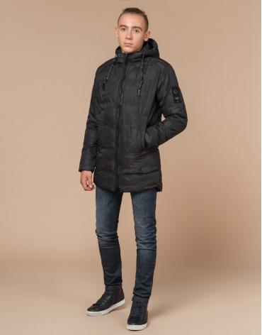 Черная дизайнерская куртка качественная подростковая 25060 фото 1