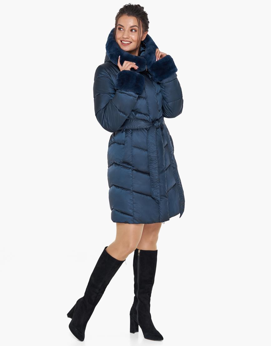 Удобный воздуховик Braggart синий женский зимний модель 31068 оптом фото 4