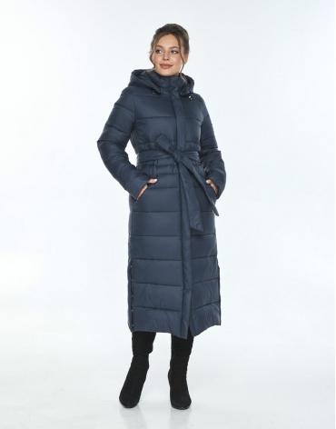 Куртка длинная женская Ajento для зимы синяя 21207 фото 1