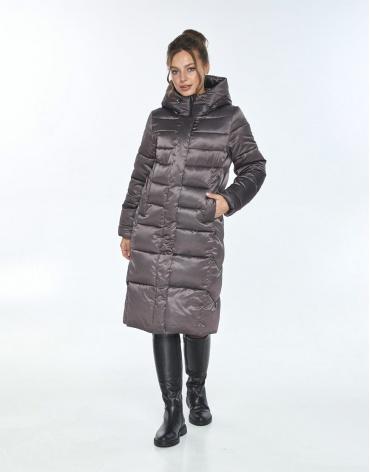 Трендовая куртка женская Ajento зимняя капучиновая 22975 фото 1
