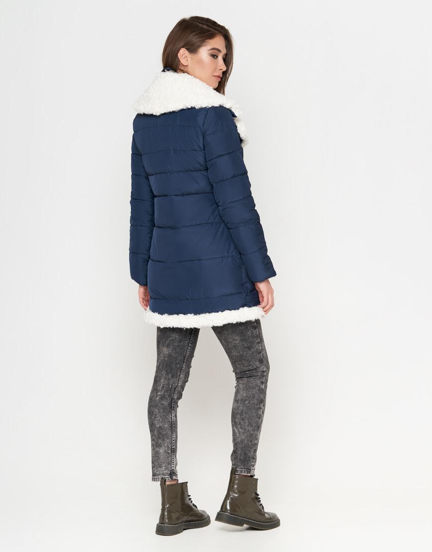 Синяя куртка на зиму женская модель 2162 фото 4