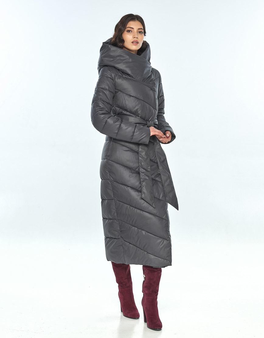 Женская серая куртка Vivacana удобная 9405/21 фото 2