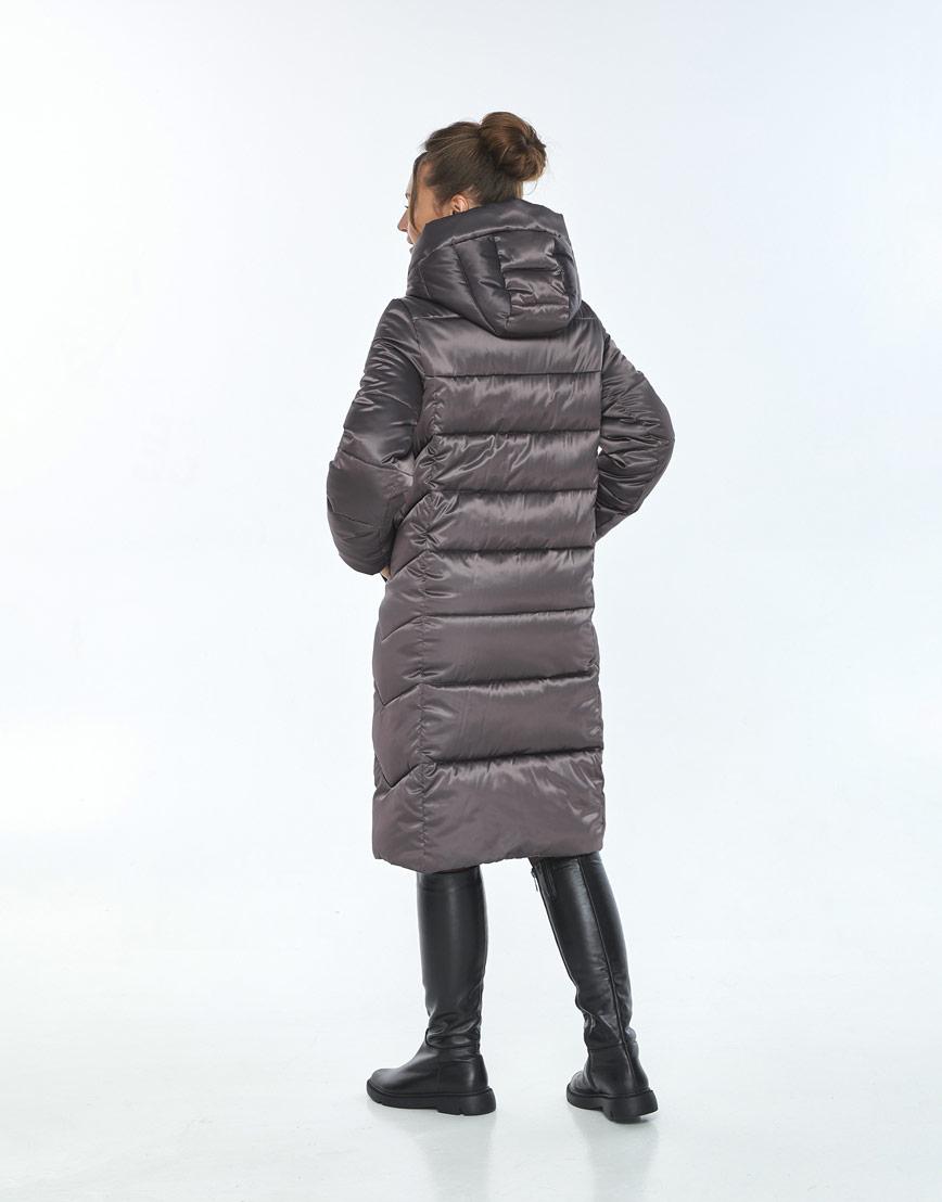 Трендовая куртка женская Ajento зимняя капучиновая 22975 фото 3