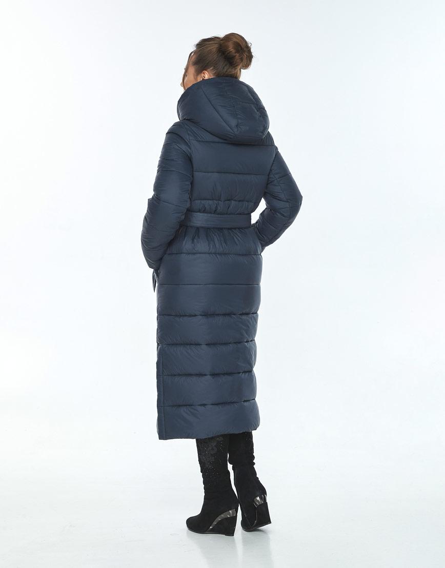 Куртка длинная женская Ajento для зимы синяя 21207 фото 3