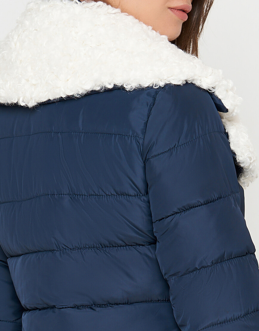 Синяя куртка на зиму женская модель 2162 фото 6