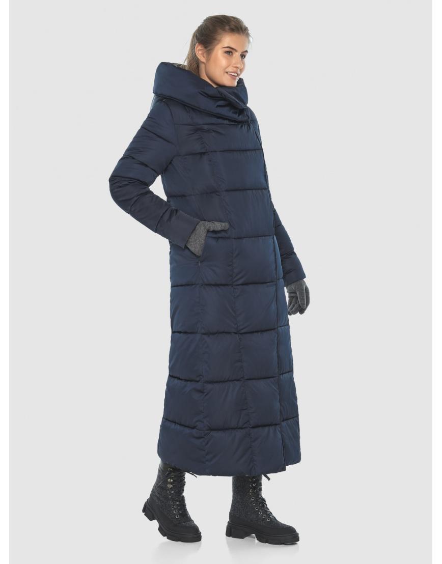 Куртка стильная длинная синяя Ajento женская 22356 фото 1