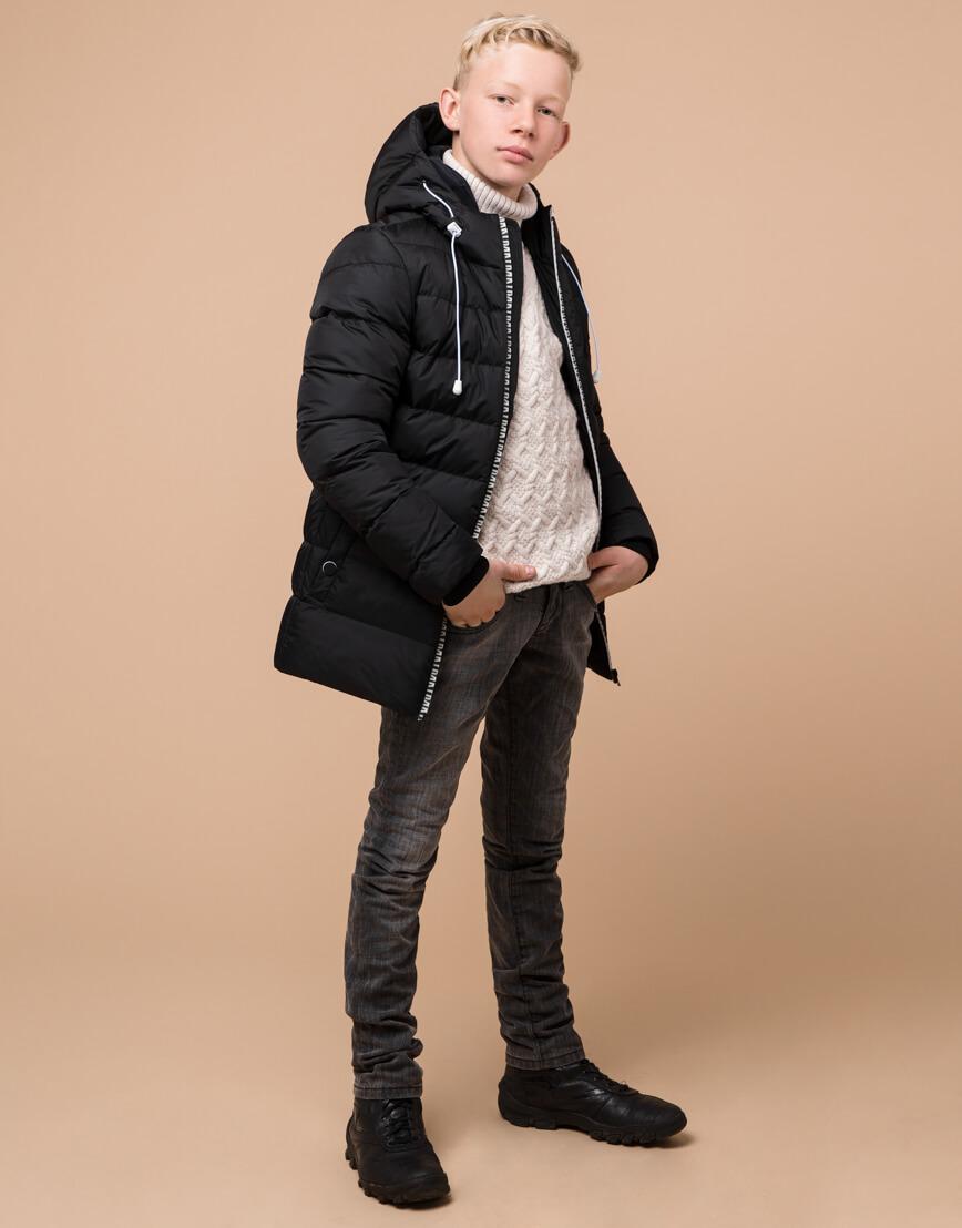 Оригинальная черная детская куртка модель 65028 оптом