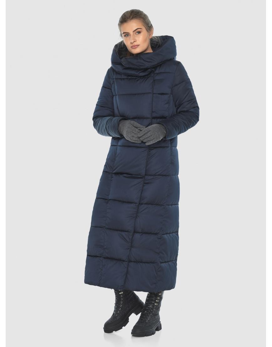Куртка стильная длинная синяя Ajento женская 22356 фото 5