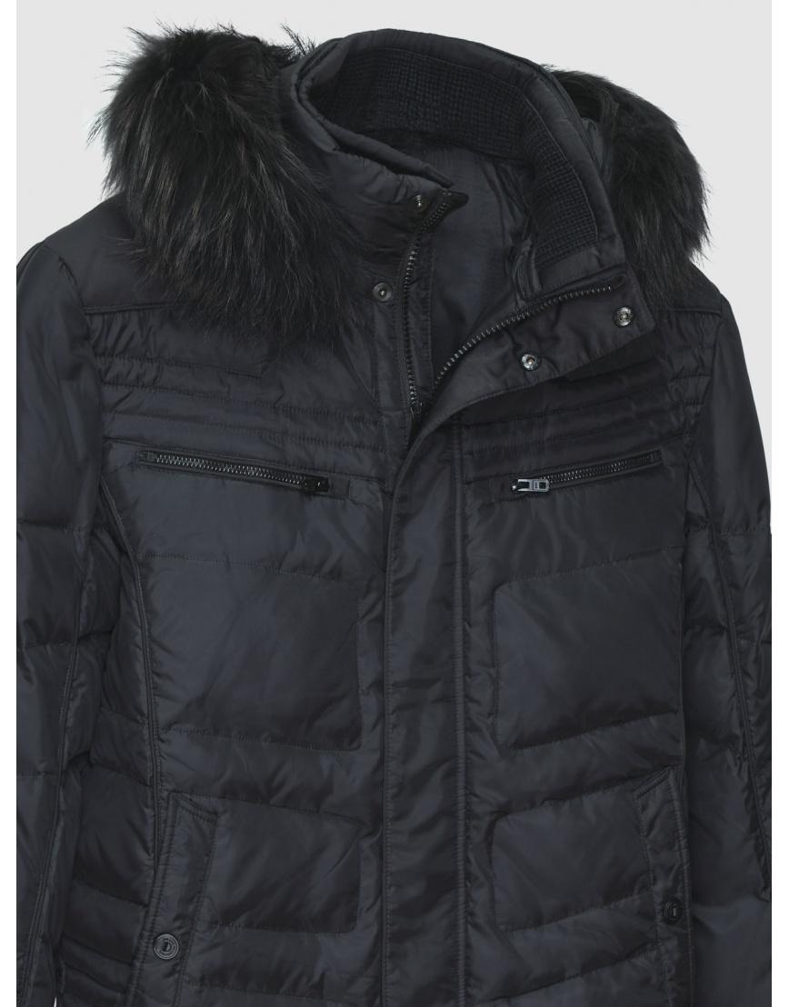 52 (XL) – последний размер – пуховик с опушкой чёрный Mirage мужской зимний 200013 фото 3