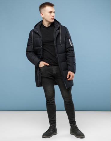 Черная практичная куртка молодежная модель 6003 оптом