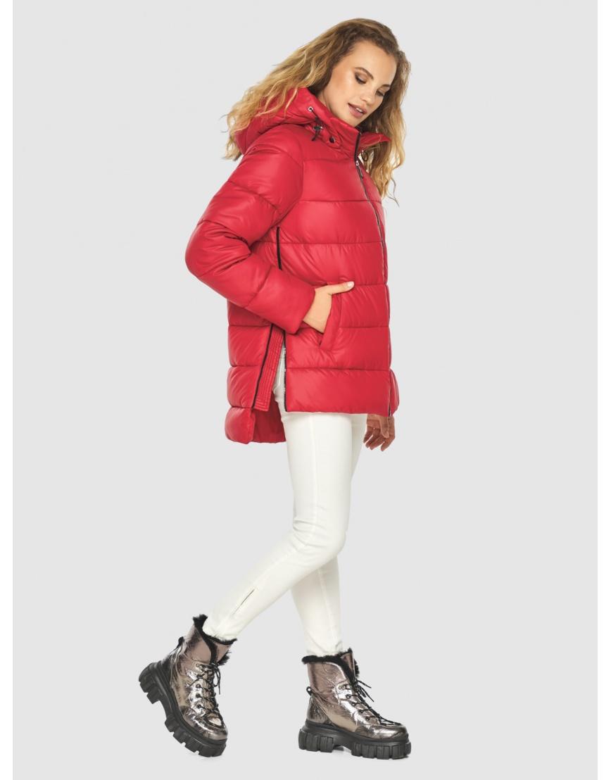 Зимняя комфортная красная куртка подростковая Kiro Tokao 60041 фото 4
