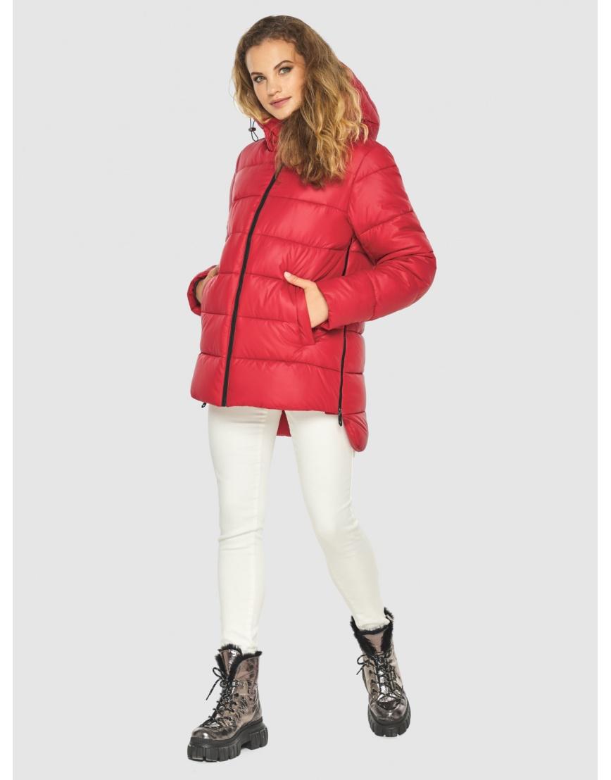 Зимняя комфортная красная куртка подростковая Kiro Tokao 60041 фото 2