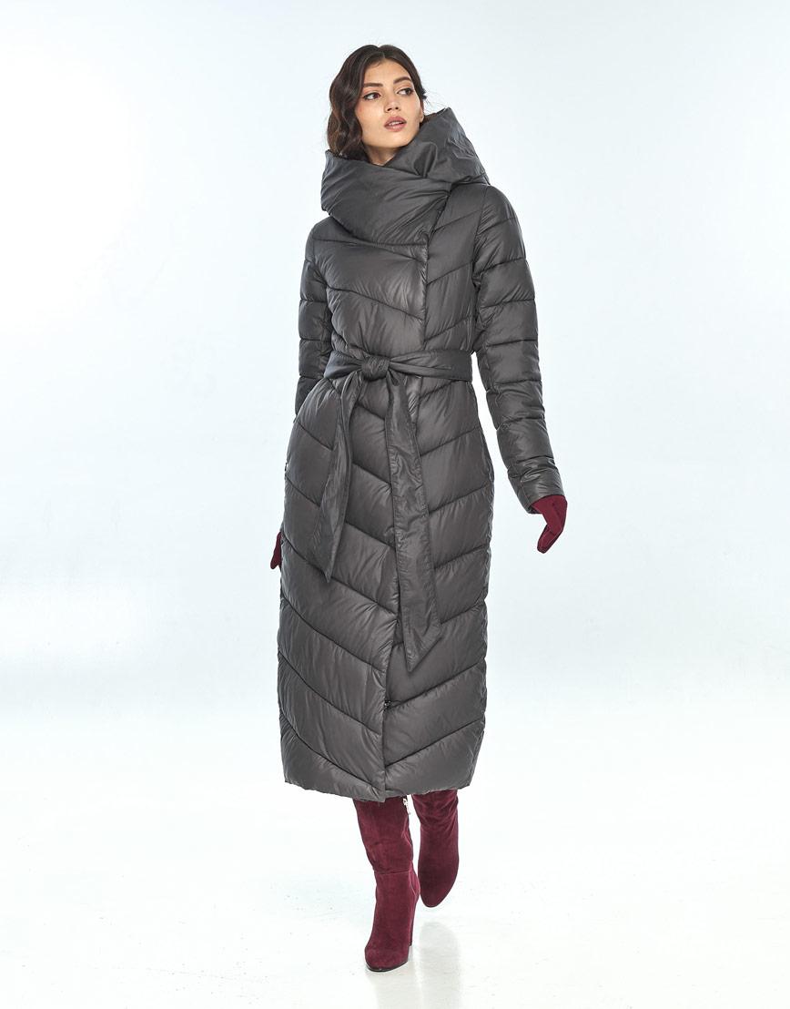 Удобная куртка серая женская Vivacana 9405/21 фото 2