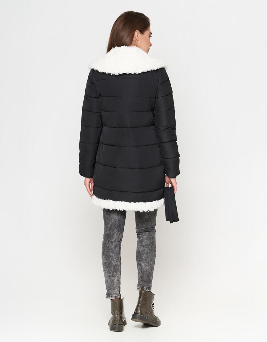 Куртка теплая черная женская модель 2162 фото 4