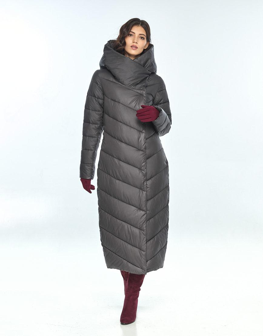 Удобная куртка серая женская Vivacana 9405/21 фото 1